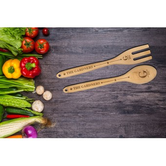 Personalised Wooden Spoon or Fork