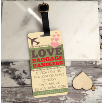 Personalised Multi-Colour Luggage Tag