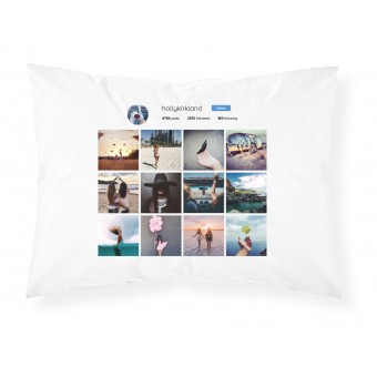 Personalised Instagram Profile Page Photo Pillowcase