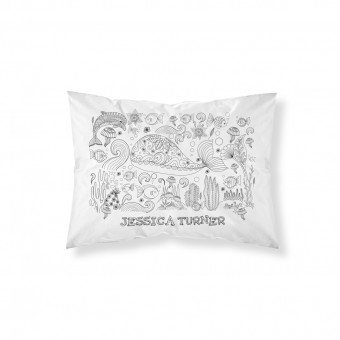 Personalised Colour-In Sea Life Pillowcase