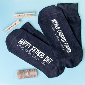 Personalised Father's Day Socks