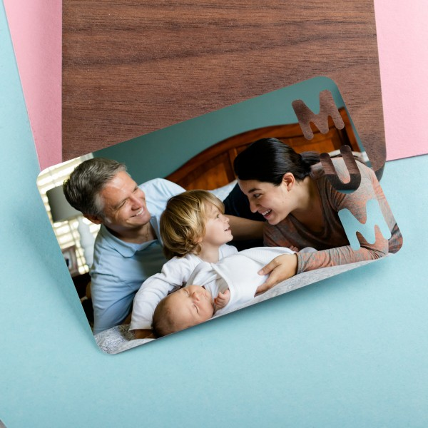 Personalised Photo Wallet Insert Mother