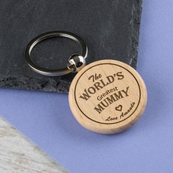 Personalised Wooden Name Keyring