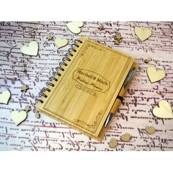 Personalised Wedding Planner Notebook with Pen