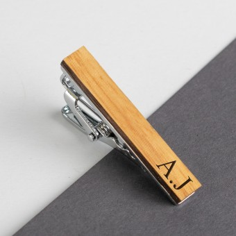 Personalised Wooden Tie Clip-Bamboo